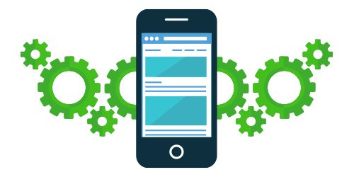 gears and a mobile phone for online CRM