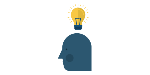 Light bulb over a head or best crm software for a startup