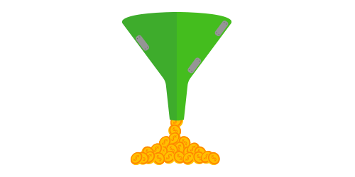 picture of plugged funnel with money coming out for sales funnel article